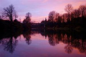 Duvall Bridge Purple Sunset - Product Image