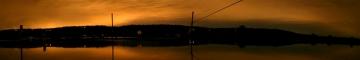 December 2004 Novelty Flats Flood Sunset Panorama - Product Image