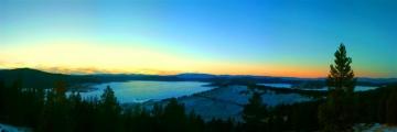 Georgetown Lake Frozen Sunset Panorama - Product Image