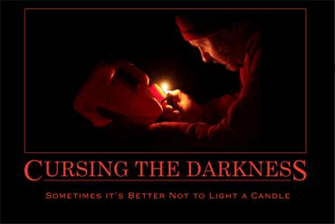 Cursing The Darkness 30x20 print - Product Image