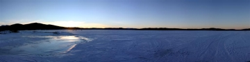 Family Ice Fishing on Georgetown Lake Panorama - Product Image