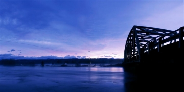Stossel Bridge in the Pre-Dawn Light Panorama - Product Image